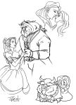 Beauty and the beast lovesheet prize! by Destinyfall