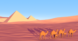 nomads passing the pyramids by ChestyMcGee