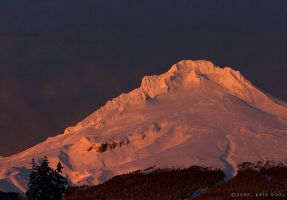 Mt Hood Sunset by indi-is-conan