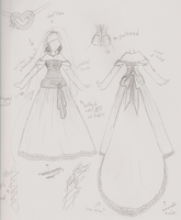 wedding dress design 1 by VocaloidIchigo