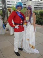 Otakon 2012 - Shining Armor and Cadence by mugiwaraJM