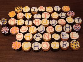 Decorated Cupcakes by wickedwitchinc