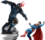 Darkseid vs Superman by Spikeprime