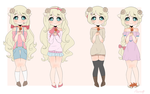 Katie hair and clothing references by Katie-chu