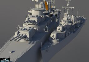Naval Battle - Heavy cruiser USS CA-26 WIP (+DD) by Count-one