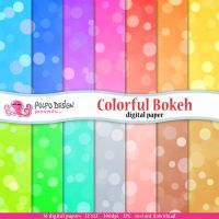 Colorful bokeh digital papers. by PolpoDesign