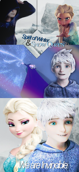 We are Invincible - Jack frost and Elsa by TheWinterHope