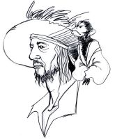 Barbossa sketch 2 by sunaipa