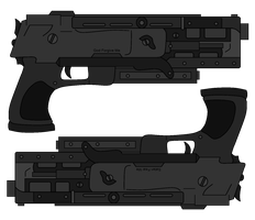 xDivine-Shadow's Dual Pistols by NeonBlacklightTH