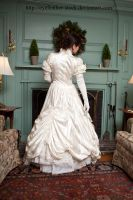 white dress back by eyefeather-stock
