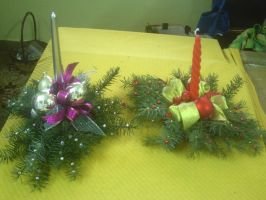 My Christmas Candle Decorations by AnneMarie1986