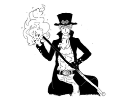 Fire Fist Sabo by scribblylines