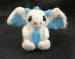 Needle Felted Baby Ice Dragon! by StarlitCutesies