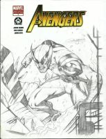 Wolverine Sketch Cover by MarkMarvida