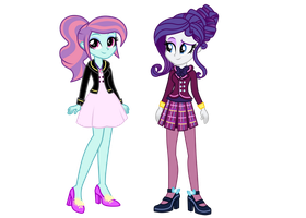 Wondercolt Sunny Flare and Shadowbolt Rarity by MixiePie