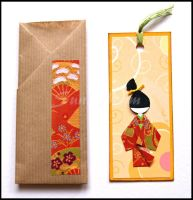 Bookmark orange - deco by SuniMam
