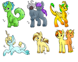 Monster Pony Adopts- Male 1 left by SweetKeyDani