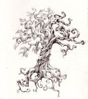 Split Tree Tatoo by joshuapeople