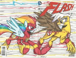 Rainbow flash Vs Reverse flash by PonyGoddess