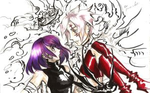 Allen and Lenalee by CaucasusG