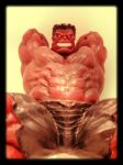 Red Hulk statue 2 by force2reckon