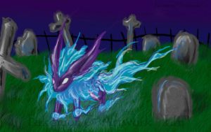 Fakemon - Ghost Eeveelution by ParticleSoup