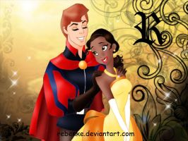 Tiana and Prince Philip by rebenke