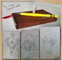 My little sketch book by HatPup
