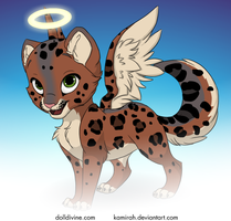 Adoptable - Angel Leopard Cat by RIOPerla