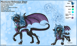 Commission Moonsong Ref Sheet by SweetLhuna