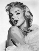 Marilyn Monroe by pencil-to-papaer
