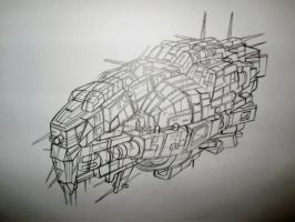 ship doodle by wookieebasher