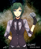 GUMI: POKER FACE by Akashicchan
