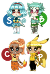 Kanto Starters: Adopts (OPEN) by orchidi