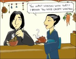Snape at Fa Ling's by elephantblue