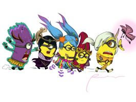 Minions as League of Legends Support :3 by Amiti-seiL