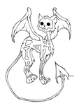 16. Skull Cat by CaptainMetal