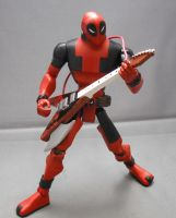 Deadpool Animated 3 Guitar by Shinobitron
