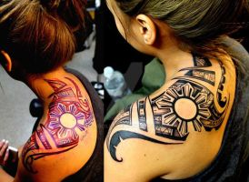 Shoulder tribal by larcilla