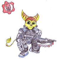 Ratchet Gears of War style by sicksake