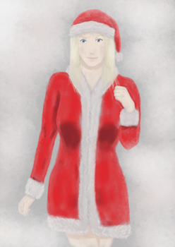 Girl 4 - Santa Clothes. by SpeedArtSA