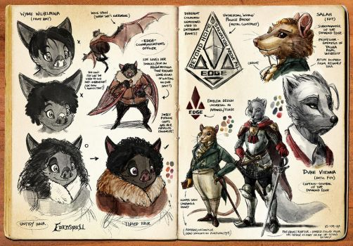 Watercolor Sketchbook (Pgs 09-10) by darkspeeds