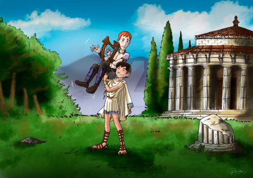 Greek and Celtic Couple by Orestes-Sobek