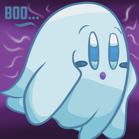 Kirby Tuesday-Ghost  by thegamingdrawer