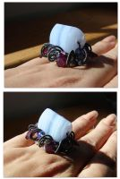 Float Bluelace Agate Ring by CrysallisCreations