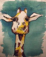 Giraffe Head by Sarahwildflower
