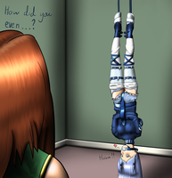 Adelise's Self Bondage? by Plasma-dragon