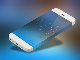 Water droplets ios7 Wallpaper by ZNDeviantart