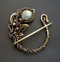 BRASS FIBULA by KL-WireDream