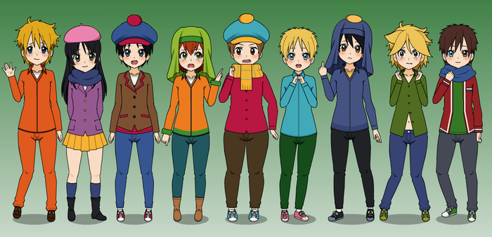 Some Kisekae 2 Styled SP Characters by Kitty-McGeeky97